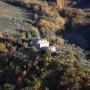 Landscape view of farmhouse Casale Noro with land near Spello: farmhouse for sale in Umbria, Italy