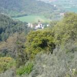Landscape view from old farmhouse Casali Santa Maria near Spoleto: farmhouse for sale in Umbria, Italy