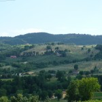 Landscape view from restored country house Casale Antignano near Bevagna: restored country house for sale in Umbria, Italy