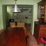 Dining room in restored village house Casa San Felice near Spoleto: village house for sale in Umbria, Italy