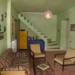Living room in restored village house Casa San Felice near Spoleto: village house for sale in Umbria, Italy