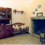 Village house for sale umbria - fireplace